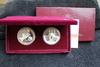 1983 & 1984 2 pc Proof Olympic Silver Dollars Box & COA