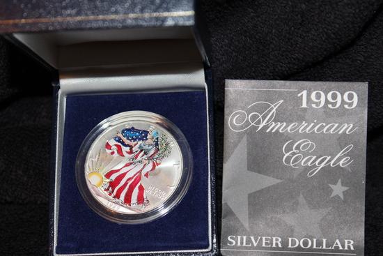 1999 1 oz. Colorized American Silver Eagle BU