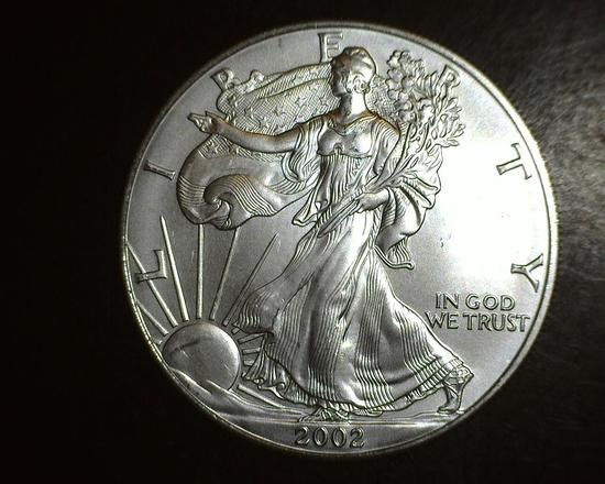 2002 1 oz. American Silver Eagle BU