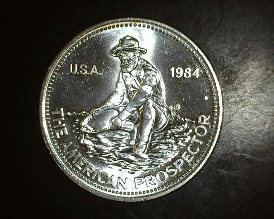 1984 The American Prospector 1 oz. Silver Round Engelhard