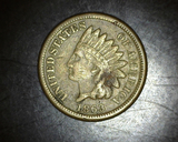 1863 Copper Nickel Indian Head Cent VF