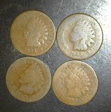 1864-1865-1866-1867 Indian Head Cents