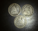 1849-1887-1891 Seated Liberty Dimes