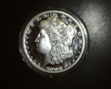 2000 Morgan Dollar 100 mil Silver Round Proof