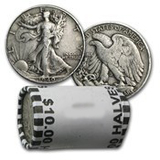 Roll of Walking Liberty Half Dollars - 20 Coins - Average Circulated and Better