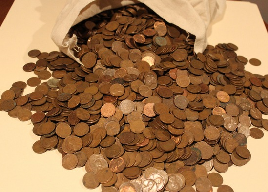 UNSEARCHED 1000 pc Bag of Lincoln Wheat Cents Average Circulated - Almost Uncirculated