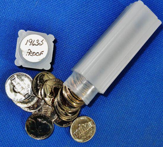 Roll 1963 Jefferson Nickels Proof