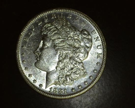 1881 S  Morgan Dollar BU