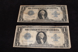 2 - 1923 $1 Silver Certificate Large Notes