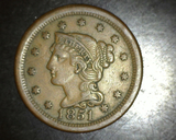 1851 Large Cent XF