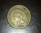 1860 Copper Nickel Indian Head Cent F/VF