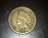 1861 Copper Nickel Indian Head Cent VG