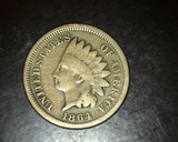1864 Copper Nickel Indian Head Cent
