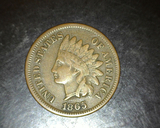 1865 Indian Head Cent F/VF