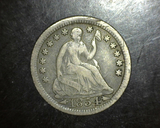 1854 Seated Half Dime 3 yr Type VG/F