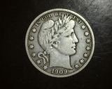 1909 Barber Half Dollar F/VF