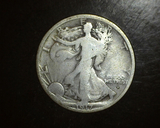 1917-D OBV Walking Liberty Half