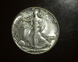 1942 Walking Liberty Half  AU