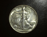 1943 Walking Liberty Half  AU