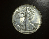 1946 Walking Liberty Half  AU
