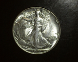1947 Walking Liberty Half  BU