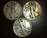 1927 S-1928 S-1929 S Walking Liberty Halves