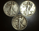 1934 p+d+s Walking Liberty Halves