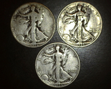 1936 p+d+s Walking Liberty Halves