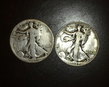 1940 p+s Walking Liberty Halves