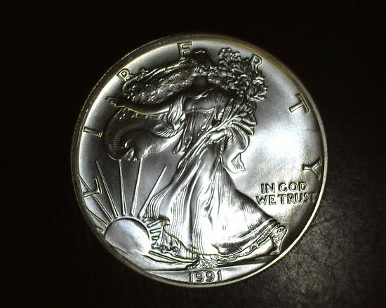 1991 1 oz. American Silver Eagle BU