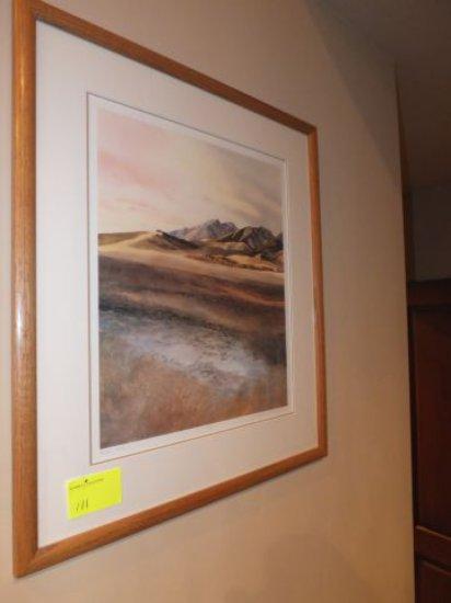 """N. Taylor Stonington Framed, Signed, Print """"Boulder Peak"""" 16""""x20"""""""