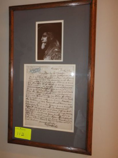 William Cody - Buffalo Bill Cody - Signed Letter with Letter of Authenticity