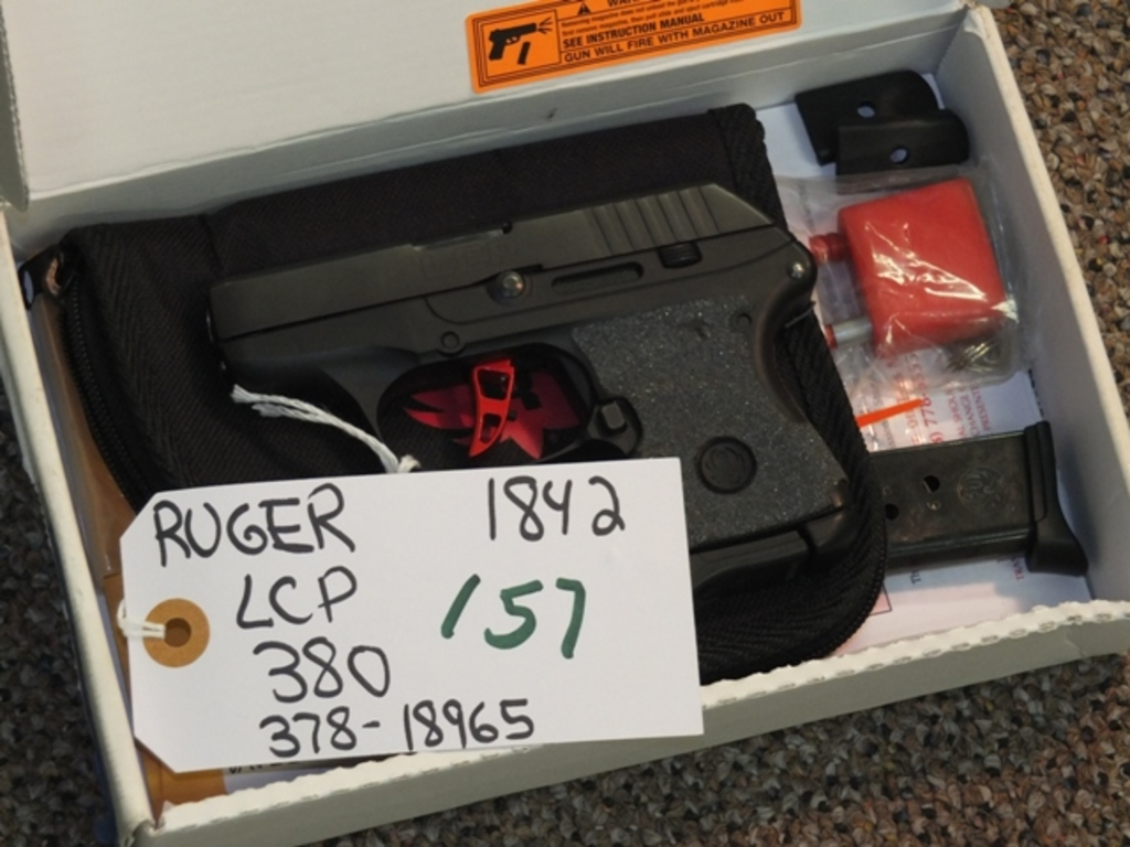 Lot: RUGER LCP 380 WITH GALLOWAY PRECISION ADJ TRIGGER, STAINLESS