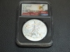 2017 $1 AMERICAN FIRST RELEASES SILVER EAGLE NGC MS70, BANKRUPTCY CASE#17-00495