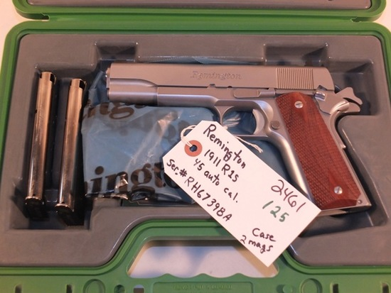 REMINGTON 1911 R1S 45 AUTO WITH BOX AND 2 MAGS   S/N RH67398A, TAG# 2461