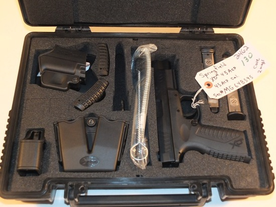 SPRINGFIELD ARMORY XDM 45 45 ACP  WITH CASE AND 2 MAGS  S/N MG648595, TAG# 2462