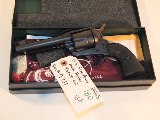 US FIREARMS RODEO SA 45 COLT WITH BOX   S/N A731, TAG# 2465