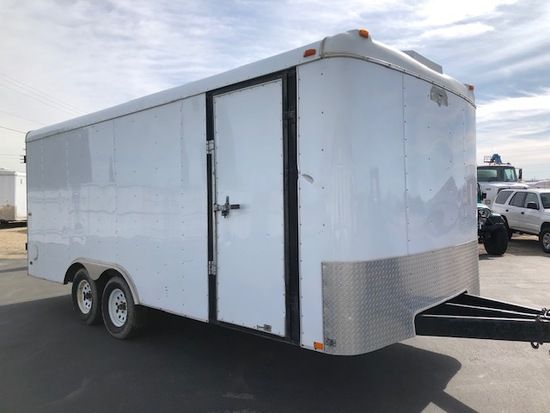 "2006 18' 8"" TRAILER - INTERSTATE ENCLOSED MAN & BARN DOORS, VIN:4RACS18206N044771"