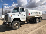 1995  FORD WATER TANK TRUCK DIESEL, 3,880 GALLONS ANTI-SIPHON APPROVED VIN:1FDYW82EXSVA19309, 99K MI