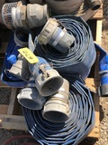 (8) WATER HOSE SECTIONS, PLUS FITTINGS