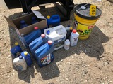 OIL GROUP: 5 GAL. HYDRAULIC FLUID, 3 GAL. DELO 15W-40, 2.5 GAL. DEF, AND MISC. OIL