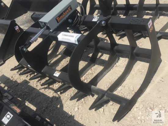 "Unused Tomahawk One Cylinder 66"" Brush Grapple"