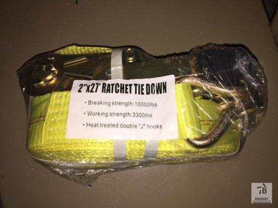 Unused 2 in. x 27FT Ratchet Tie Down