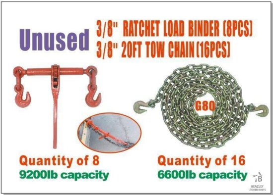 Unused Ratchet Load Binder and Chain Set [Yard 1: Anna, TX]