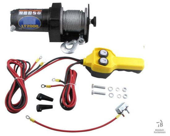 Unused 2000Lbs 12V ATV Electric Winch [Yard 1: Anna, TX]