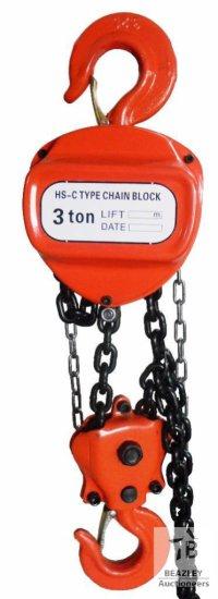 Unused Heavy Duty 3 Ton Chain Hoist [Yard 1: Odessa, TX]