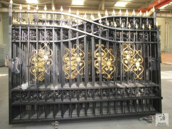 Unused 20FT Heavy Duty Bi-Parting Wrought Iron Driveway Gate (to sell as one pair) [Yard 1: Odessa,