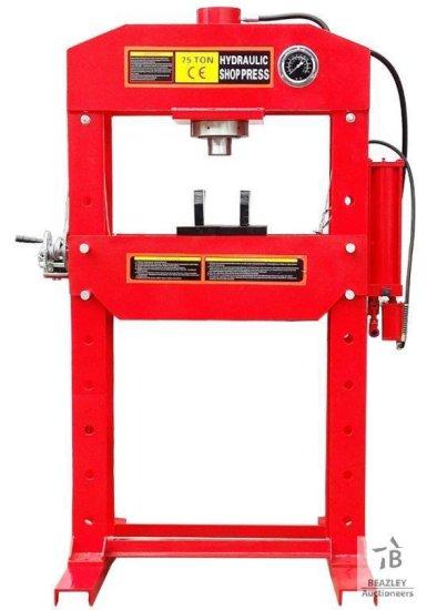 Unused 75 Ton Hydraulic Shop Press [Yard 1: Odessa, TX]