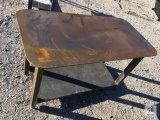 Unused Heavy Duty 30in. X 57in. Welding Shop Table with Shelf [Yard 1: Odessa]
