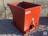 Unused Standard Duty 1.5 Cubic YARD Self Dumping Hopper (4,000lb. Capacity) [Yard 1: Odessa]